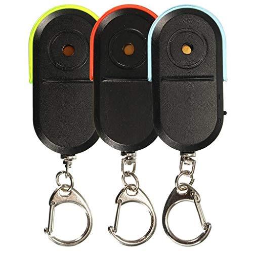 S-TROUBLE Porte-clés de lumière LED de sifflet de sifflet de localisateur de clé d'alarme sans Fil