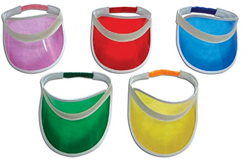 Pack of 10 Retro 80s Sunvisors Party Pack