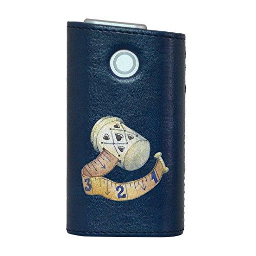 glo グロー グロウ 専用 レザーケース レザーカバー タバコ ケース カバー 合皮 ハードケース カバー 収納 デザイン 革 皮 BLUE ブルー 裁縫 道具 014164