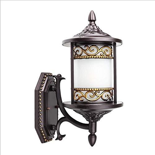 WZXCAP Garten veranda Lightings Matglas Shade Wandlantaarn Retro in de vrije wandlamp Traditionele klassieke verlichting decoreren wandlamp