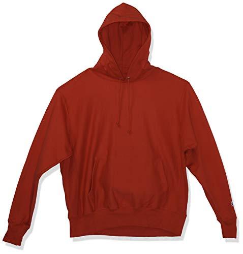 Champion Herren Reverse Weave Pullover Hoodie Kapuzenpullover, Team Red Scarlet, Large