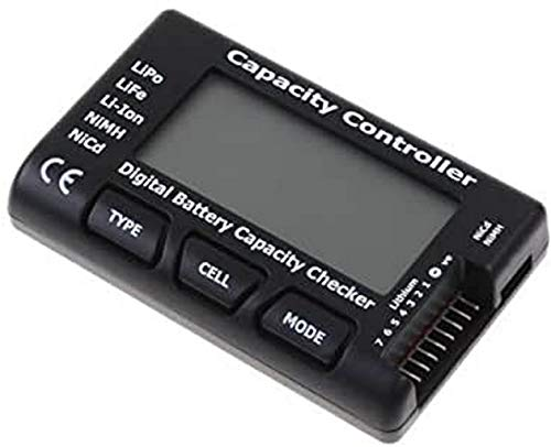 YUNIQUE FRANCE- Digital Testeur Checker de Capacité de la Batterie pour Lipo Life Li-ION Nicd Nimh, 57-94DI-DHHL, Noir