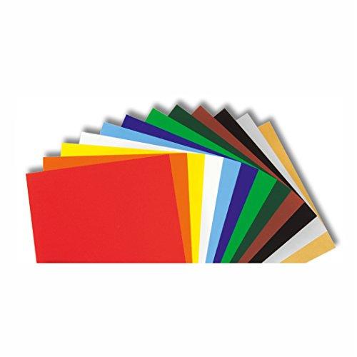 Buntpapier gummiert 21x25cm 12 Blatt farbig sortiert