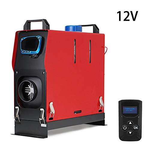 Oshidede 5KW 12V Diesel Luftheizung Fernbedienung Fahrzeugheizung Diesel Lufterhitzer LCD Monitor Thermostat Air Standheizung Auto Heizung mit Fernbedienung, LCD-Schlüssel Schalter + Schalldämpfer