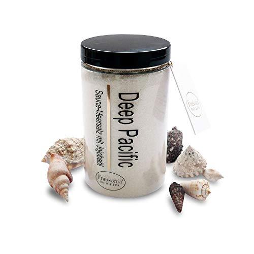 Sauna Salz Peeling – Deep Pacific 400g - Meersalz m. Jojobaöl Vitamin E Body Scrub – Dusch- und Körperpeeling für alle Hauttypen – vegan – ohne Parabene