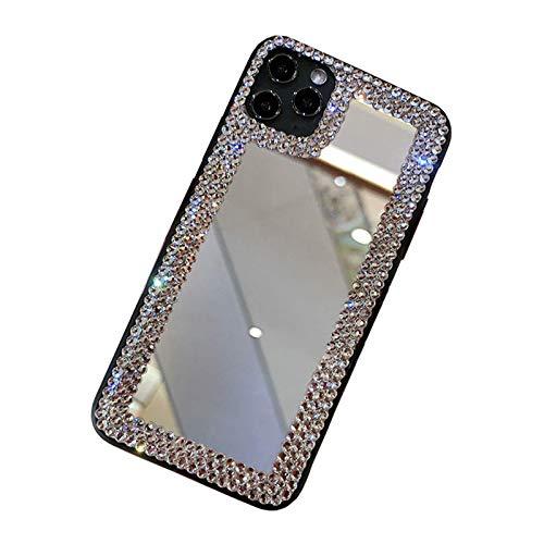 AIJOAIM Funda para iPhone 12 Pro Case Cárcasa de Maquillaje Glitter Bling Mirror Ultrafina Suave TPU Anti Choque Back Cover,iPhone 11 Pro