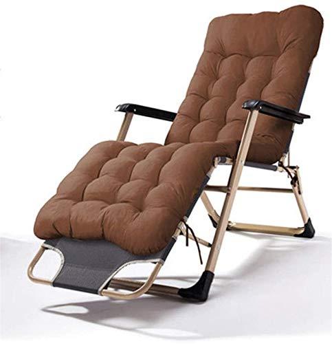 XZGDEN Leicht Faule Deck Chair Rocker Folding Garten Schaukelstuhl Sonnenliege Outdoor Recliner Sitz Slingstuhl mit Kopfstütze Camping Tourismus Braun (Color : Brown)