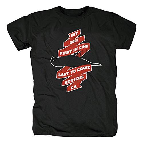 Herren T-Shirt Atticus Kurzarm Shirt Frauen T-Shirt Hiphop Rap Tee Shirts Gr. XL, Schwarz