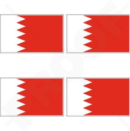 Bahreïn Drapeau de Bahreïn arabe 5,1 cm (50 mm) bumper-helmet en vinyle autocollants, Stickers x4