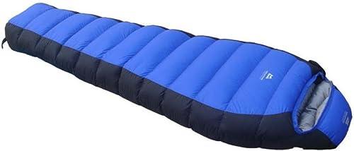 SHUIDAI Sac de couchage chaud Sports de plein air Camping randonnée avec léger confortable , bleu