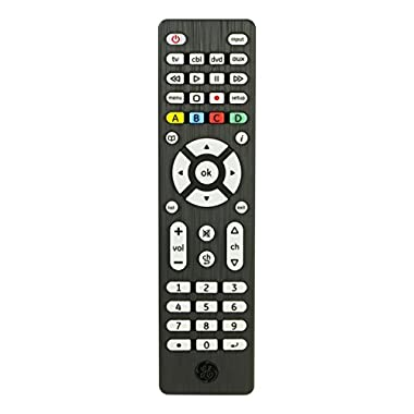 GE 34457 4-Device Universal Remote Control, Designer Series, Brushed Black