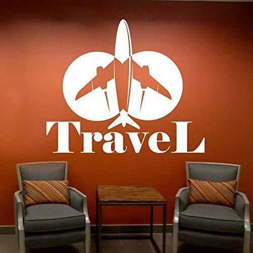Agencia De Viajes Oficina Etiqueta De La Pared Vacaciones Vela Vinilo Etiqueta...