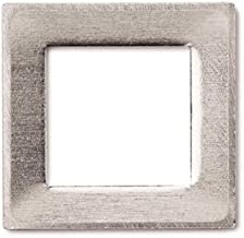 RMP Stamping Blanks, 1 Inch Square Washer with 5/8 Inch Center, Aluminum 0.032 Inch (20 Ga.) - 50 Pack
