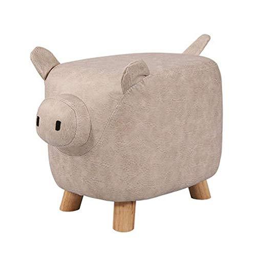 JIAXU Reposapiés y taburete de animales de la serie de taburete tapizado para montar en el...