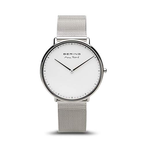 BERING Herren Analog Quarz Uhr mit Edelstahl Armband 15738-004