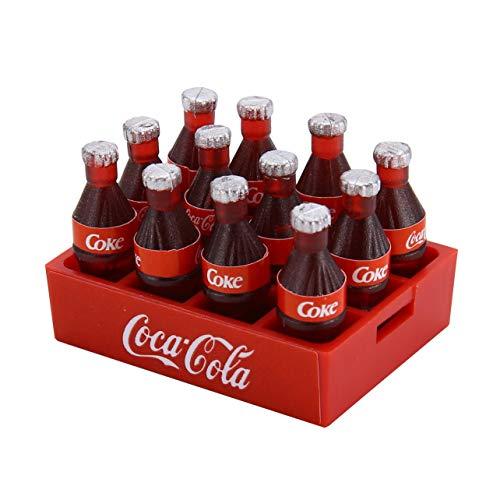 Mini Cola Flasche & Tablett Dekoration Zubehör Spielzeug Werkzeuge Miniatur Spielzeug Puppe Trinken Küche Für 1/10 RC Crawler D90 Axial SCX10