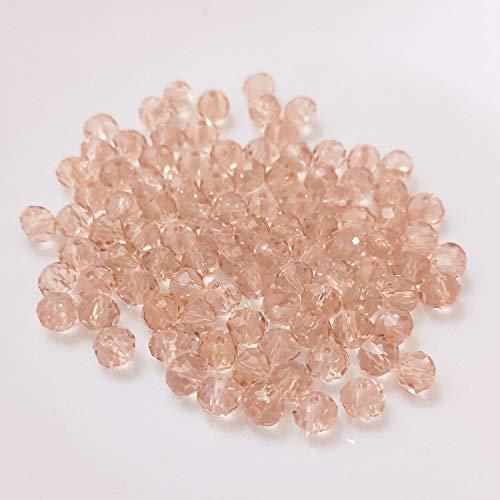 Cuentas de cristal (10 mm/crema) para manualidades, cuentas de cristal facetado, aspecto de diamante, agujero para hacer pulseras, atrapasueños, multicolor, set DIY pequeñas y grandes joyas para niños