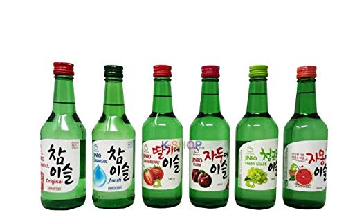 Jinro Soju Selection - Fruit, 6er Set mit verschiedenen Soju Sorten