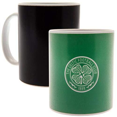 Celtic FC Heat Changing Mug (One Size) (Black/Green)
