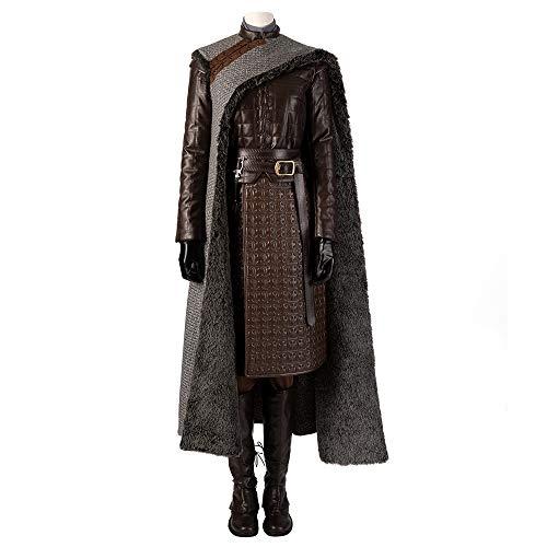 Juego de tronos 8 asesino Arya Stark Disfraz de Cosplay Mujer Tops, pantalones, guantes, zapatos, capas Disfraces de Halloween Disfraces de película Accesorios de lujo Edición Deluxe,Black-Custom size