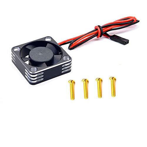 FUIKEING Motor de Ventilador de RefrigeracióN de Metal DisipacióN de Calor para 3650 3660550540 Motor 1/10 RC Car Axial SCX10 TRX4, Plateado