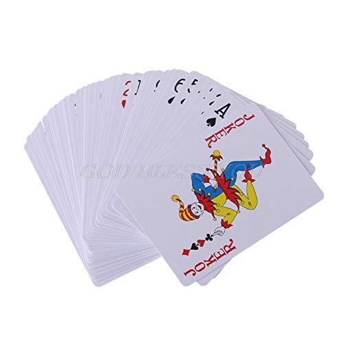 CHUN LING 3 Packungen hochwertige Kunststoffbeschichtung Unterhaltung Spielkarten, Bike Magic Deck Karte, wasserdicht, biegefest, geeignet für ältere Menschen, Lamy, Poker