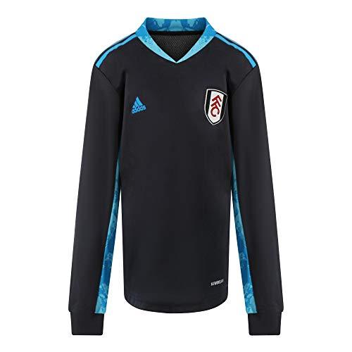 Fulham Football Club 20/21 Youth 3rd GK Trikot FI4200 schwarz/aqua blau Gr. 7-8 Jahre, Schwarz/Aqua Blau