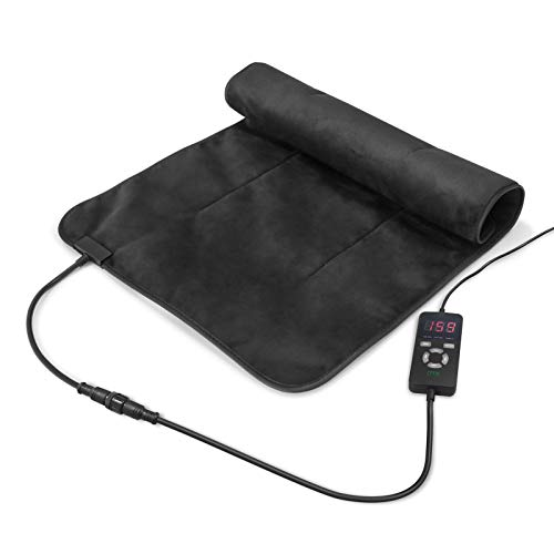 """UTK Ultra-Soft Far Infrared Heating Pad for Pain Relief, Flexible Infrared Heating Therapy for Back, Cramps - XXL [36""""x24""""], EMF Free, Auto Shut Off, Adjustable Temp and Memory Function"""