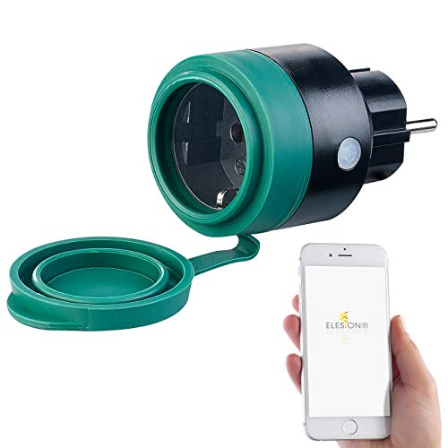 Luminea Home Control Zeitschaltuhr aussen: Outdoor-WLAN-Mini-Steckdose, für Alexa, Siri & Google Assistant, 16 A (WLAN Steckdose aussen)