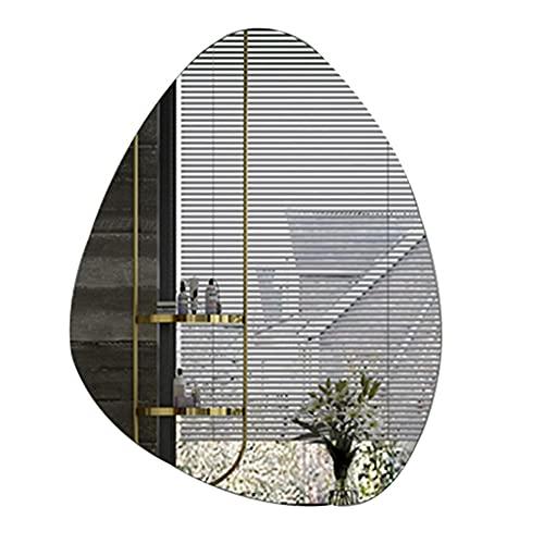 Asymmetrischer Spiegel Rahmenloser Wandspiegel für Badezimmer, Waschtisch, Schlafzimmer (Tropfenform)