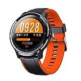 LUWEI Gesundheitsportarten Smart Watch, IP68 wasserdicht Full Touch Screen Fitness Tracker mit Herzfrequenz & Schlafmonitor für Android iOS,Orange
