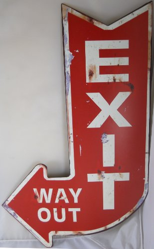 Vintage Looking EXIT Way Out Sign