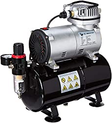 NEW Quiet MASTER AIRBRUSH TANK COMPRESSOR-(FREE) AIR HOSE