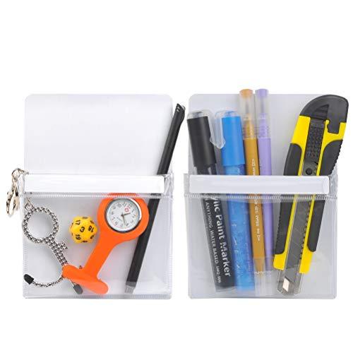 2PCS Magnetic Pen Marker Storage Organizer Magnetic Dry Erase Marker Holder Whiteboard Pen Holder,Marker Pen Magnetic Holder for Whiteboards/Fridge/Refrigerator/School Locker/Office(White)