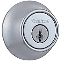 Kwikset 660 Single Cylinder Deadbolt featuring SmartKey Security in Satin Chrome (96600-576)