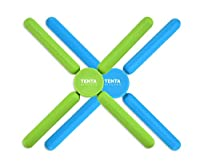 tenta kitchen utility sottopentola in silicone pieghevole, sottopentola estensibile/pieghevole, sottopentola in silicone espandibile elasticizzato, verde/blu (confezione da 2)