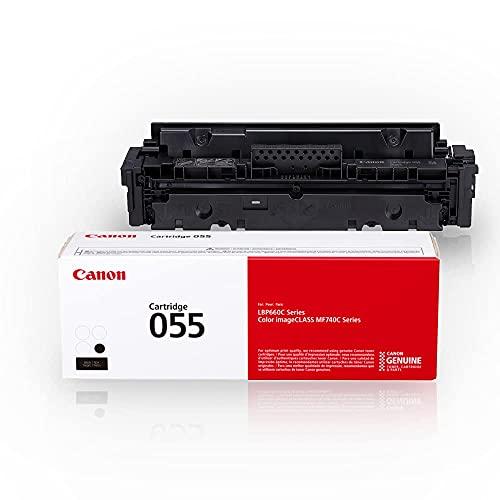 Canon Genuine Toner, Cartridge 055 Black (3016C001) 1 Pack, for Canon Color imageCLASS MF741Cdw, MF743Cdw, MF745Cdw, MF746Cdw, LBP664Cdw Laser Printers