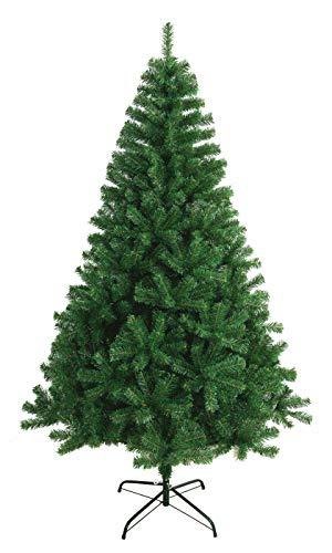 Solauga Árbol de Navidad Artificial Extra Relleno Abeto de Hoja Espumillón 150-240cm Arboles C/Soporte Metálico (Verde Oscuro, 180cm 617Tips)