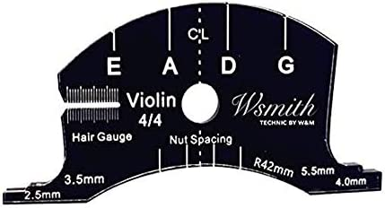 Violin bridge template