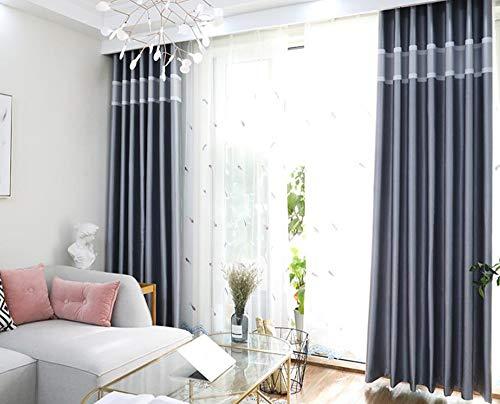 Eenvoudige Moderne Slaapkamer Woonkamer Gevuld Raster Effen Kleur Elektrische Gesneden Gordijn Gordijnroede Sturen,F,300 * 270cm