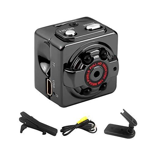 Andoer Mini telecamera nascosta 960 p 2 MP Full HD videocamere di sorveglianza portatile con rilevamento di movimento visione notturna interno esterno per casa auto drone ufficio colore nero