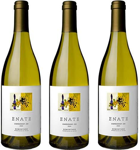 ENATE Chardonnay - 234 - D.O Somontano - Vino Blanco - Afrutado: Melocotón, Guayaba, Maracuyá, Almibarado - Notas de Hinojo - Fondo Mineral - Pack de 3 Botellas - 75cl