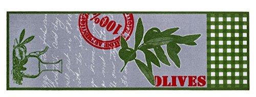 """Küchenläufer / Küchenmatte / Dekoläufer für Küche und Bar / Teppich / Läüfer / Läufer / waschbare Küchenläufer / Küchendeko Modell grün - Olive """" Größe ca. 50 x 150 cm"""
