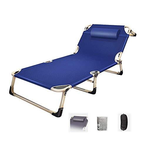 LLSS Silla Plegable Silla reclinable para Almuerzo Silla para el hogar Lazy Single Lunch Bed Siesta Bed Beach Garden Relax Mecedora