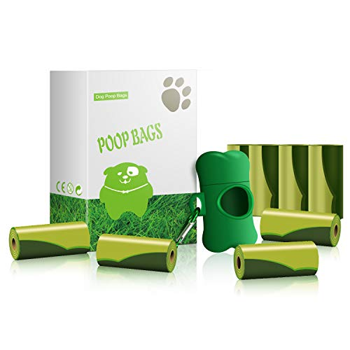 jie Rui Dog Poop Bags with Dispenser and Leash Clip Leak Proof Thick and Strong Pet Dog Waste Bags8 Rolls/Pack 120 Rolls in Total