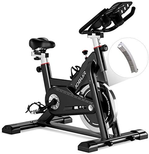 JOBUR Magnetic Exercise Bikes with Ipad Mount Spin Bike with Comfortable Seat Cushion Quiet product image