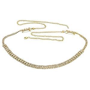 Kritika Creations White Stone kamarpatta Jewellery for Women kamarband for Girls ottiyanam Waist Jewelry for Women Hip Belt for Women Jewellery