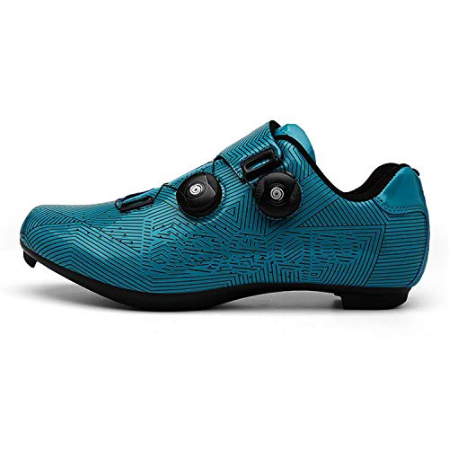 Men's Road Cycling Shoes Fast Spinning Bike Shoes Mountain Bicycle Shoes SPD Cycling Shoes Blue