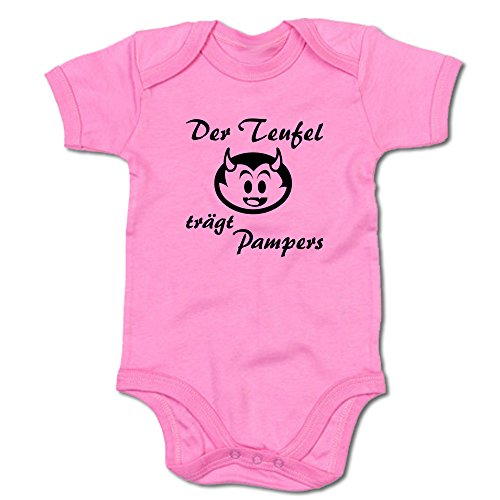 G-graphics Der Teufel trägt Pampers Baby-Body (250.0039) (6-12 Monate, pink)