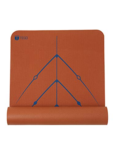 TEGO Stance Truly Reversible Mat Blue with Spring Green GuideAlign - 5mm Thick Comes with Mat Holder...